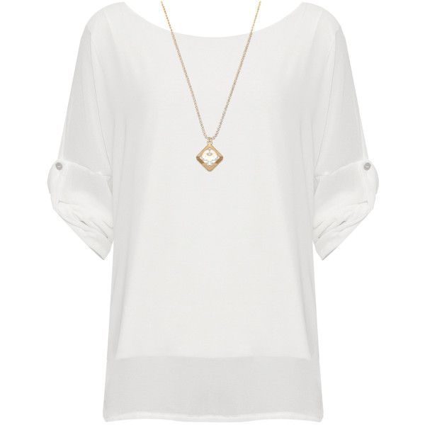 Saphira Chiffon Batwing Necklace Top ($28) ❤ liked on Polyvore featuring plus size women's fashion, plus size clothing, plus size tops, cream, sheer chiffon top, transparent top, batwing tops, bat sleeve tops and short sleeve chiffon top