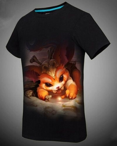 League of Legends hero Gnar black mens t shirt The Missing Link-