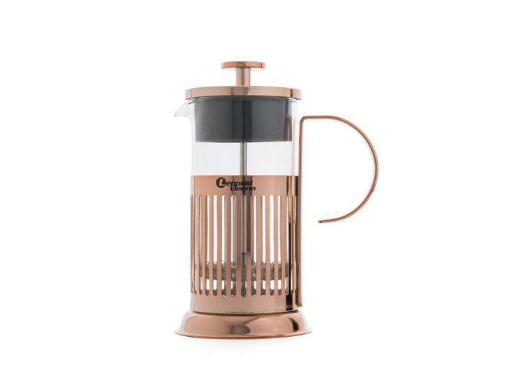 Amazon.de: Leopold Vienna LV01529 Kaffeebereiter French Press Kupfer 350ml