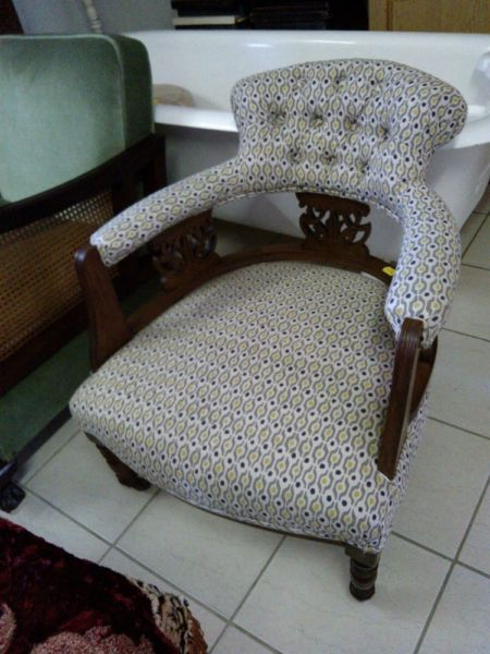 Upholstered Arm Chair   Bluff   Gumtree South Africa