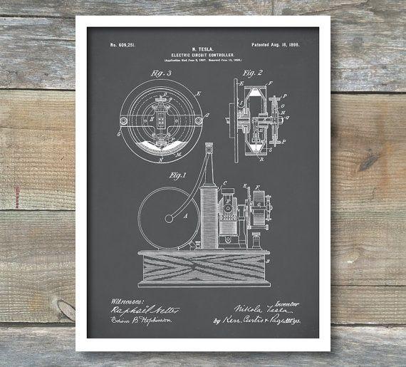 Tesla Electric Circuit Controller Poster Tesla Electric