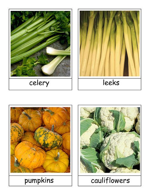 free vegetable cards