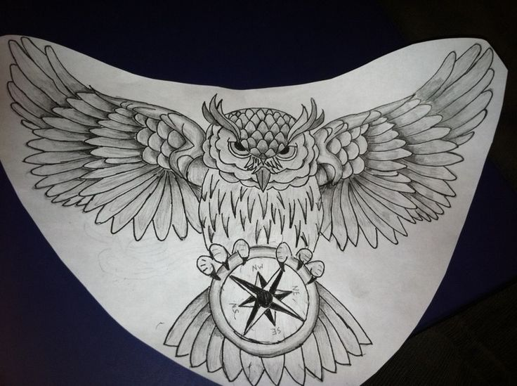 Owl Chest Piece Tattoo Pictures at Checkoutmyink.com