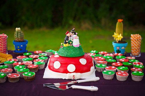 Andrea & Steve's laid-back Mario-themed budget wedding