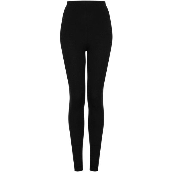 TOPSHOP Side Double Elastic Leggings (2.875 RUB) ❤ liked on Polyvore featuring pants, leggings, jeans, bottoms, topshop, black, topshop leggings, elastic pants, legging pants and topshop pants
