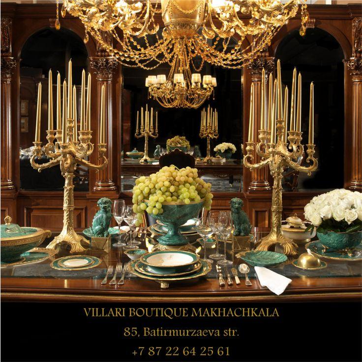 VILLARI BOUTIQUE MAKHACHKALA Batirmurzaeva Str. 85, 367029 Tel. 007 8722642561 #villari #porcelain #table #tableset #malachite #24ctgold #gift #giftideas #present #presents #homedecor #housedecor #livingspace #lifestyle #Interiorarchitect #interiordesign #art #artistic #decoration