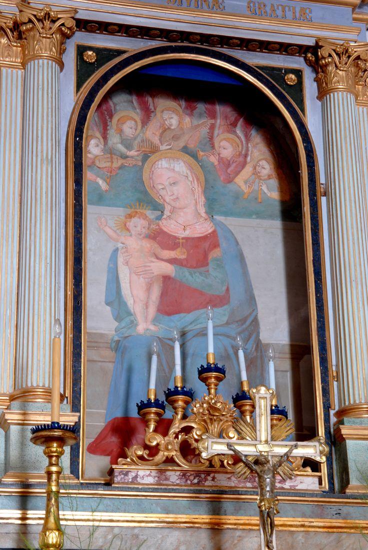 Chiesa di S. Maria delle Grazie, interno, alcune opere d'arte. #marcafermana #montottone #fermo #marche
