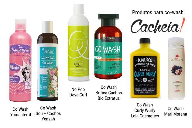 Produtos para co wash liberados no poo