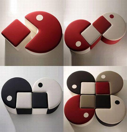 Apartment Furniture Arrangement | Pouf-Man: Pac-Man Inspired Furniture | Apartment Therapy