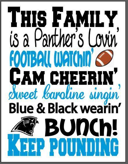 Charlotte Panthers art print Panthers fan by ThatsItforLess