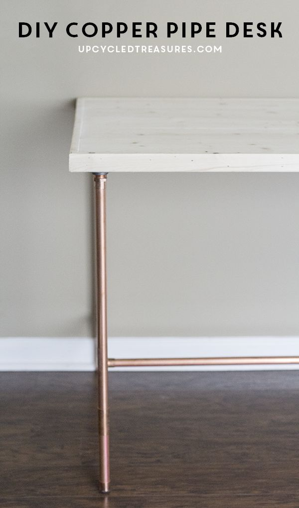 Diy copper pipe desk copper inspiration and by for How to convert copper pipe to pvc