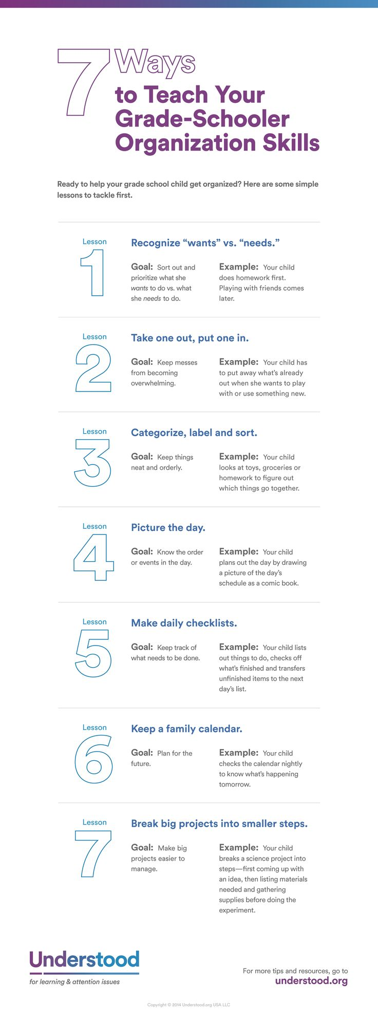 """7 Ways to Teach Your Grade-Schooler Organizational Skills"" (#INFOGRAPHIC)"