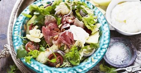 Ham & melon salad