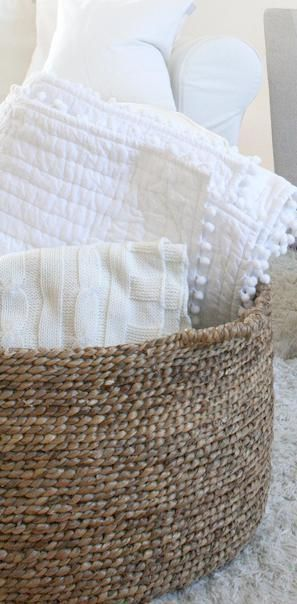 Best 25 Blanket Basket Ideas On Pinterest Blanket
