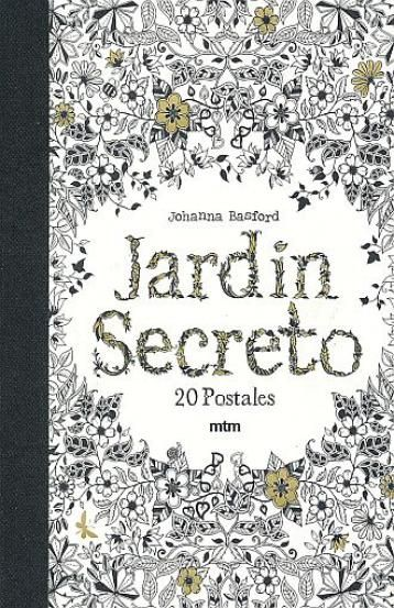 CHRONICLE BOOKS Secret Garden Postcards Book Contains 20 Detachable Of Johanna Basfords Beautiful Drawings From The Inky World Her Secr