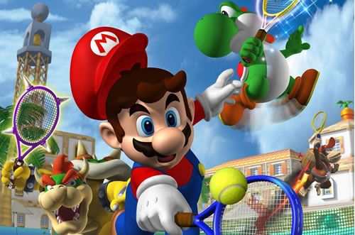 #Mario, #Yoshi and #Bowser playing Tennis. More great multiplayer Mario games to play with friends at http://www.superluigibros.com/top-10-multiplayer-mario-games