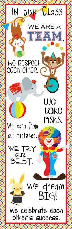 Circus Theme Classroom Decor/ Character Education Banner / XLarge / In Our Class / JPEG / ARTrageous FUN