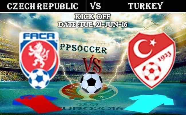 Czech Republic vs Turkey 21.06.2016 Free Soccer Predictions, head to head, preview, predictions score, predictions under/over EURO Cup 2016 Group Stages