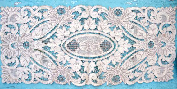 Vintage Lace Runner/Doily 14.5'' x 32.5'' by BelladonaVintage
