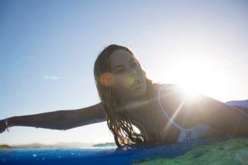 Ruby Cameron swims at St Clair Beach, Dunedin, New Zealand.