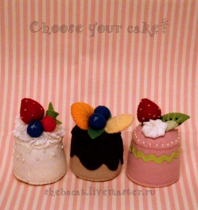 Пирожное из фетра - Ярмарка Мастеров - ручная работа, handmade