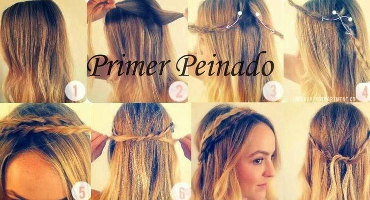 Peinados Con El Pelo Suelto Con Trenzas - Peinado con trenza y pelo suelto…