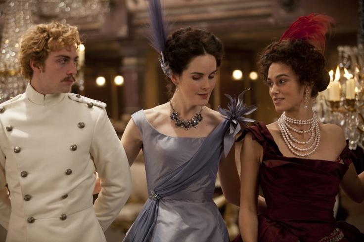 Aaron Taylor-Johnson, Michelle Dockery & Keira Knightley in Anna Karenina
