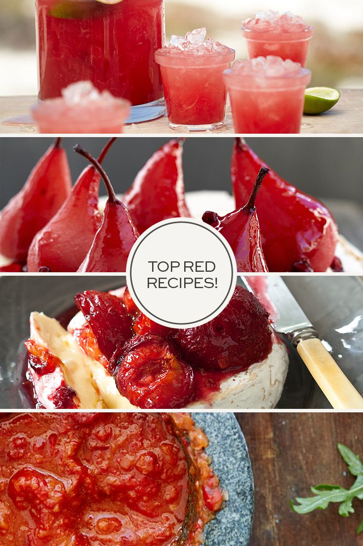 Be inspired by all things red with ruby coloured recipes!