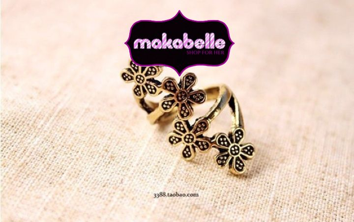 Four plum flower ring  #ring #flower #vintage #jewelry #makabelleshop www.makabelle.com