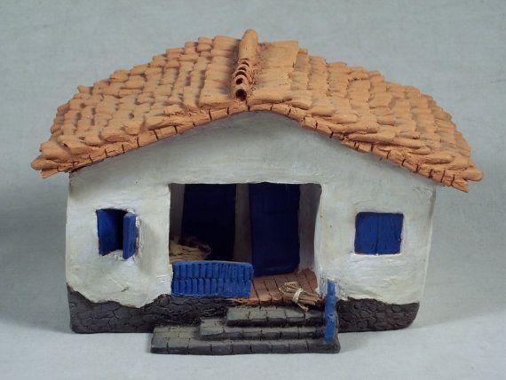 Adobe Dům Model ruční práce Keramické umění podle SnapshotsThroughTime