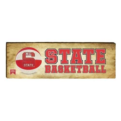 North Carolina State Wolfpack Almanac STATE Basketball Mill Wood Art. Mill Wood Art® is made from rough cut solid pine boards. With each piece it's easy to see the uniqueness and interesting characteristics of the wood.