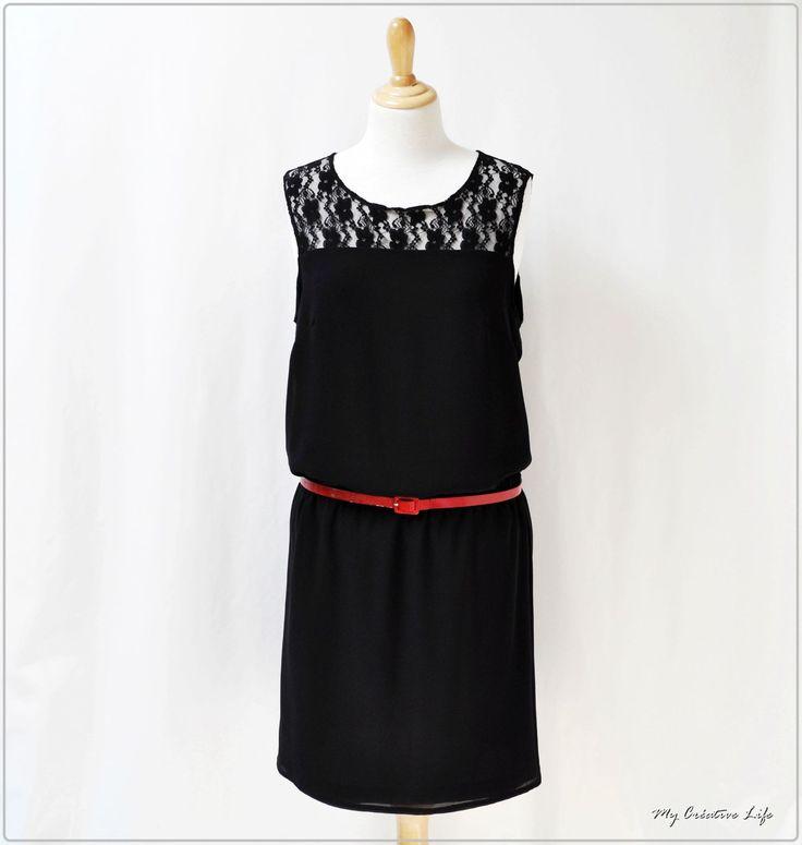 Petite robe noir en Dentelle et soie !