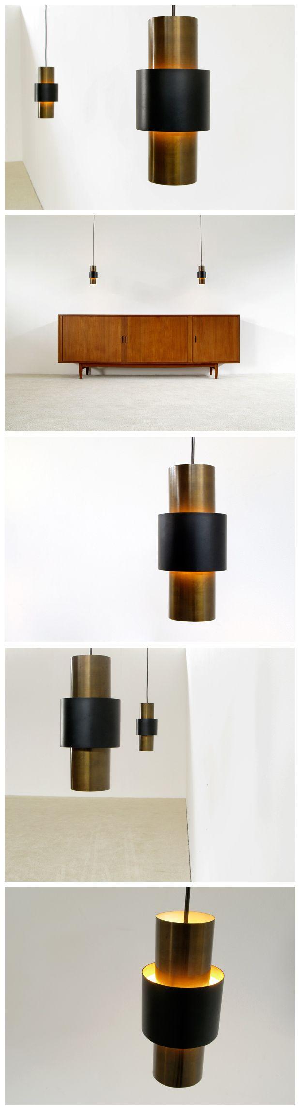 Pair of Tunika pendant ceiling lamps Jo Hammerborg Fog &  Murop