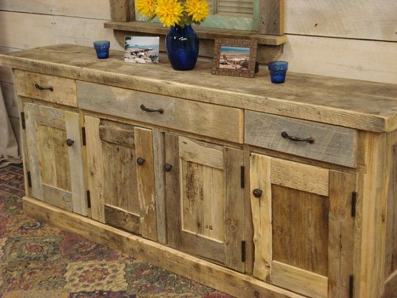 Driftwood Sideboard Cabinet 40 x 15 x 29h by DriftwoodTreasures