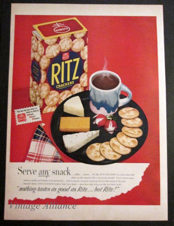 Kitchen Decor 1949 Nabisco Ritz Crackers by VintageAllianceAds, $5.95