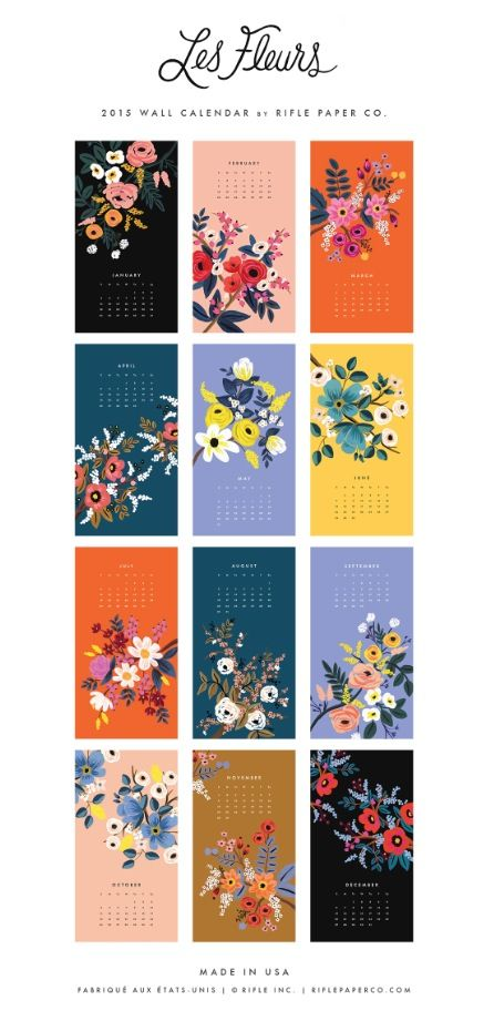 Les Fleurs 2015 Calendar from Rifle Paper Co.