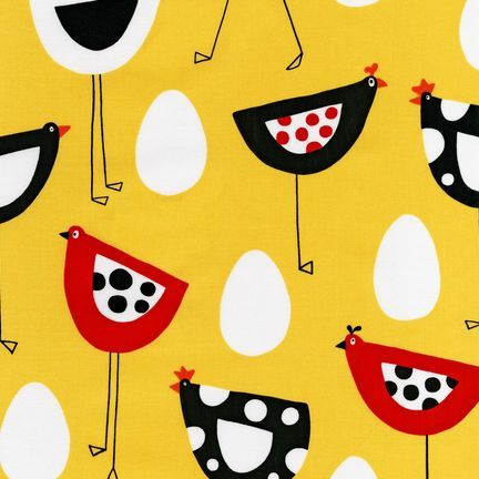 """Robert Kaufman Metro Market Nothing says """"cool chick"""" like this fabric. Bright and contemporary you can not help but smile when you look at this. $9.29 per yard."""