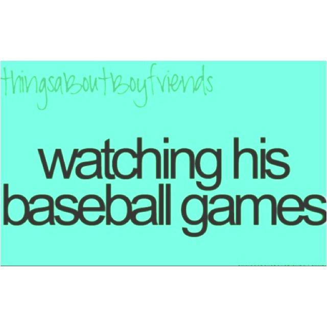 Cleat chaser (:  Wishing I had a baseball boyfriend.., or just a boyfriend :)