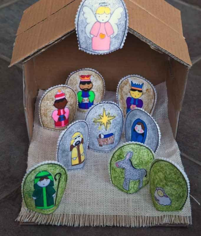 Free DIY Nativity printable