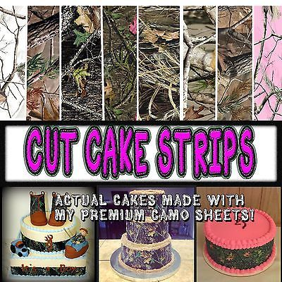 Cake Strips Edible Camouflage Sugar camoflage wraps paper pink wedding sheets | Home & Garden, Greeting Cards & Party Supply, Party Supplies | eBay!