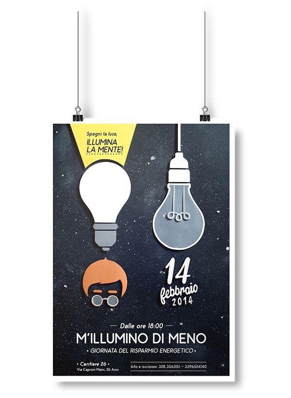 M'illumino di meno - Poster on Behance