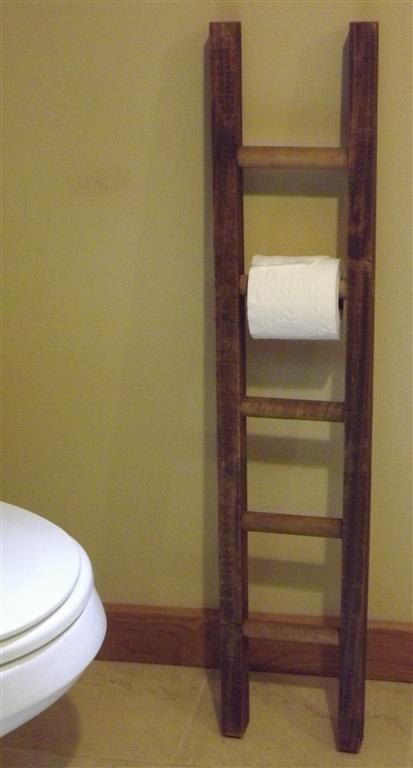 Hey, I found this really awesome Etsy listing at https://www.etsy.com/listing/159758852/ladder-toilet-paper-holder-rustic