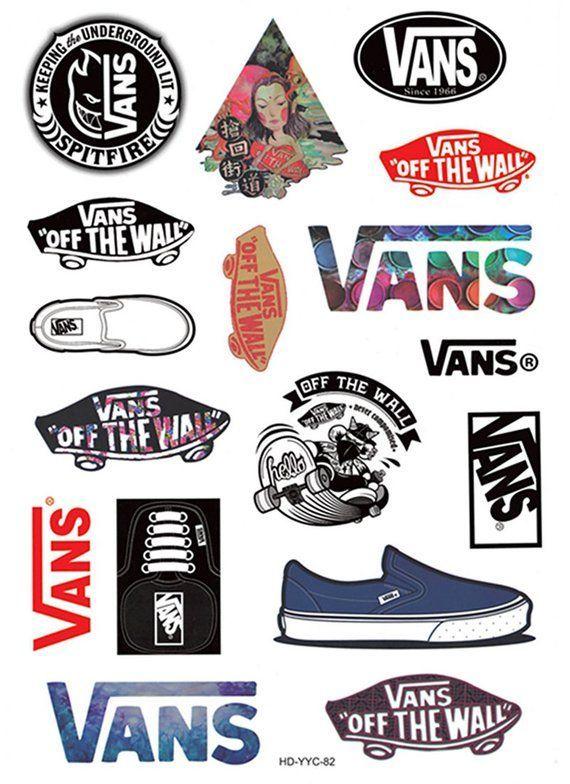 Vans Stickers 17pcs Laptop Sticker Suitcase Sticker Skateboard ...