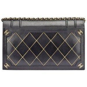 Borse Chanel : Borsa in pelle nera con dettagli oro e loghi laterali ... - Leiweb