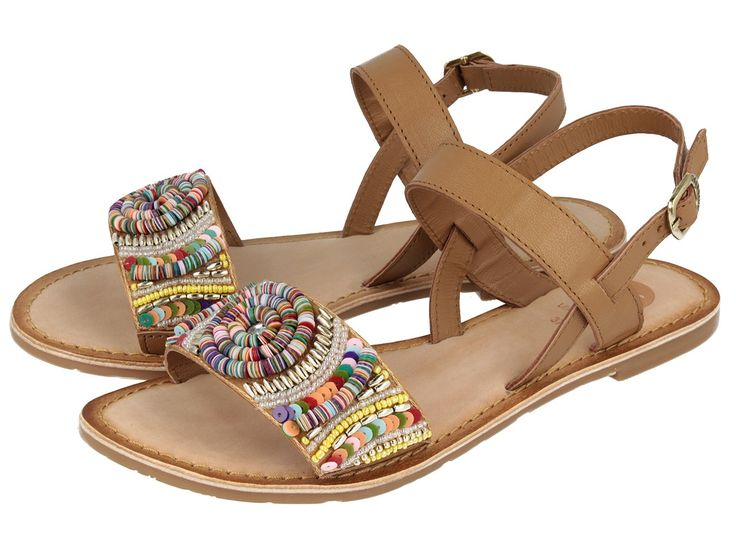 Sandalias de mujer marrones de piel Dove