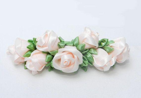 Заколка со светлыми розами от LazuritLouise на Etsy