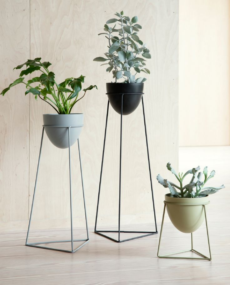 The sculptural shape of the plant stands beautifully highlights the wild nature of the plants, Anna thinks. Plant stands, available in three sizes and asst. colours, prices from DKK 49,00 / EUR 6,89 / ISK 1229 / NOK 68,80 / GBP 6,54 / SEK 68,70 / JPY 773