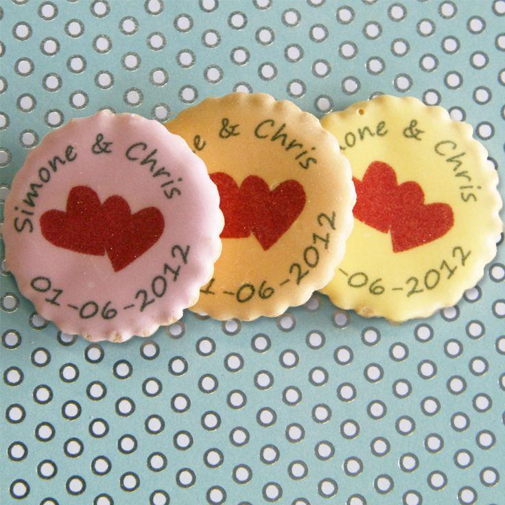 leuke bedrukte koekjes als huwelijksbedankje…