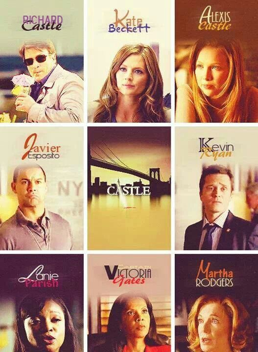 Actors in Castle ~ Nathan Fillion as Richard Castle, Stana Katic as Kate Beckett, Molly Quinn as Alexis Castle,