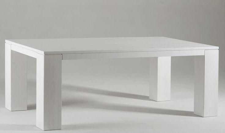 tavolo in abete spazzolato 200x100 . #itesoricoloniali #arredamenti #design #tavoli #legno #spazzolato #bianco #reggioemilia